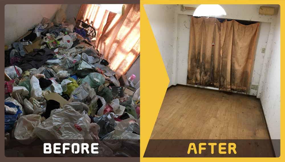 お部屋にたまってしまった大量のごみの処理にお困りのお客様からご依頼いただきました。