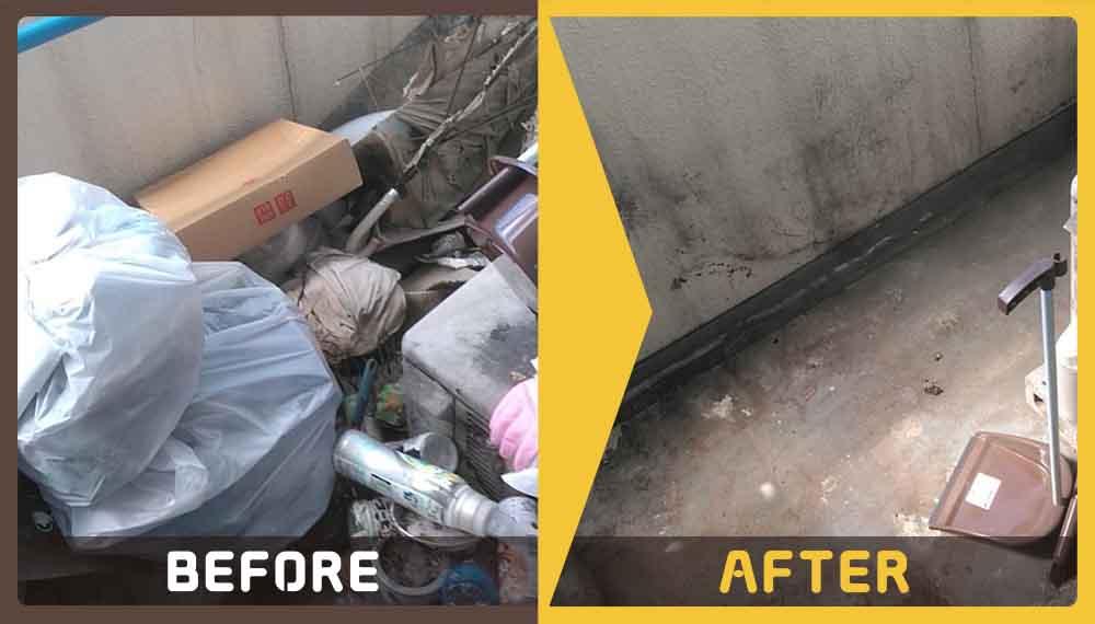 物干しざお、植木鉢、家庭ごみ等の回収・処分に困りのお客様からご依頼頂きました。