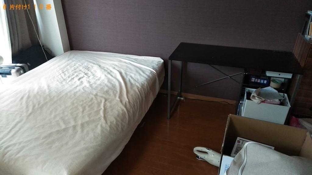 【沖縄市】ダブルベッド、作業デスク、スーツケース等の回収・処分