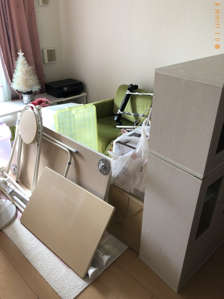 【大宜味村】本棚、ガラステーブル、ソファー等の回収・処分ご依頼