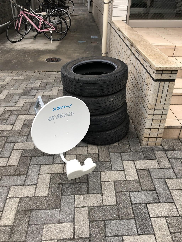 【恩納村】自動車のタイヤの出張不用品回収・処分ご依頼 お客様の声
