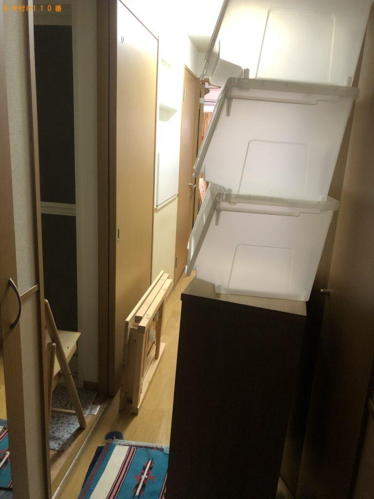 【与那原町】】折り畳みテーブル、カラーボックスの回収・処分
