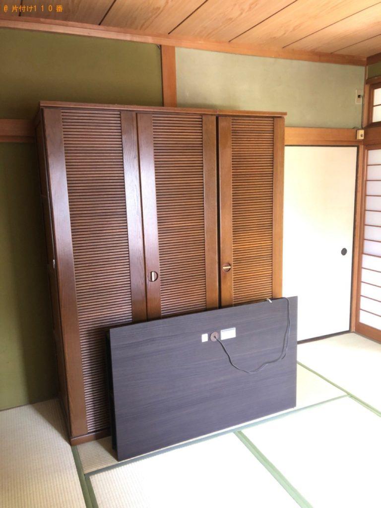 【南大東村】ダブルベッド、作業デスク、スーツケース等の回収・処分