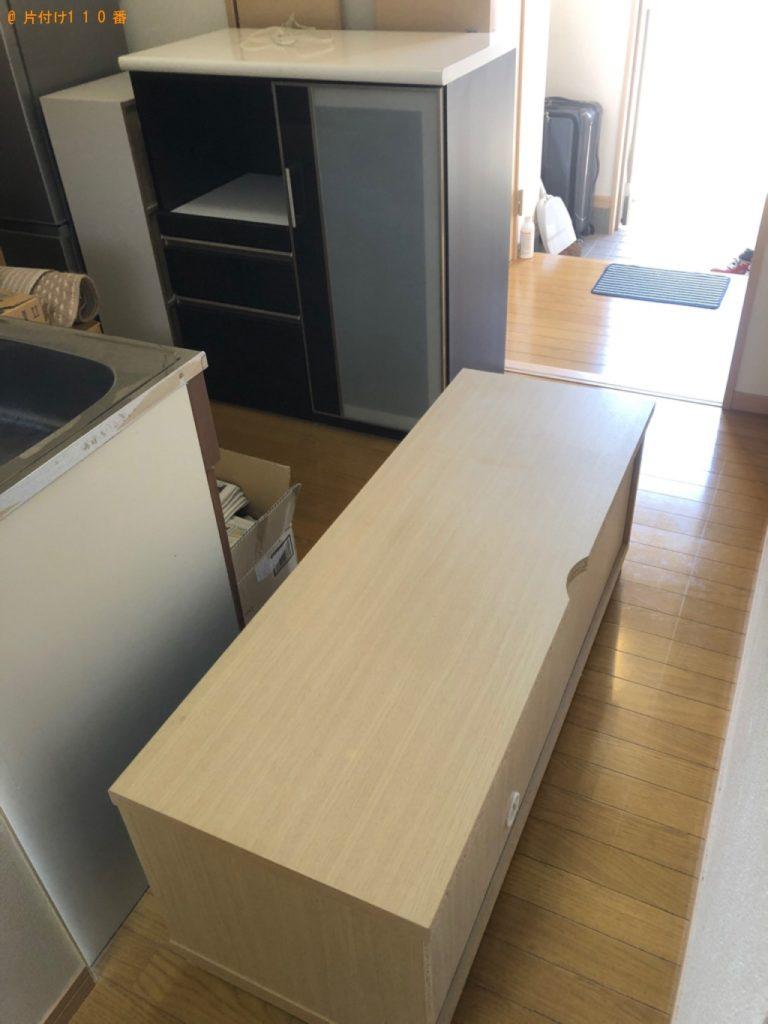 【渡嘉敷村】テレビ台、キッチンボードの回収・処分ご依頼 お客様の声