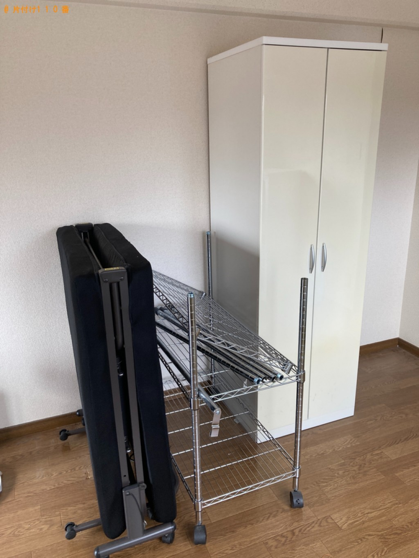 【那覇市】冷蔵庫、洗濯機、シングルベッド、衣装ケース等の回収