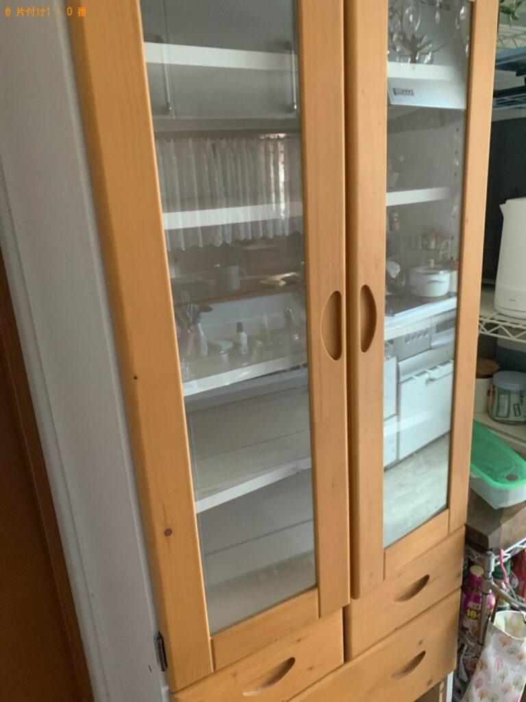 食器棚、トランポリンの回収・処分ご依頼 お客様の声