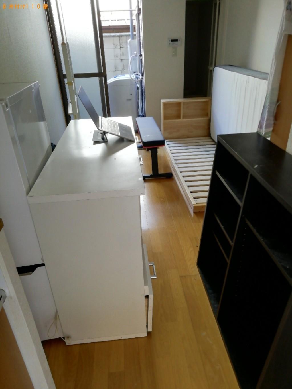 【那覇市】冷蔵庫、洗濯機、マットレス付きシングルベッド等の回収