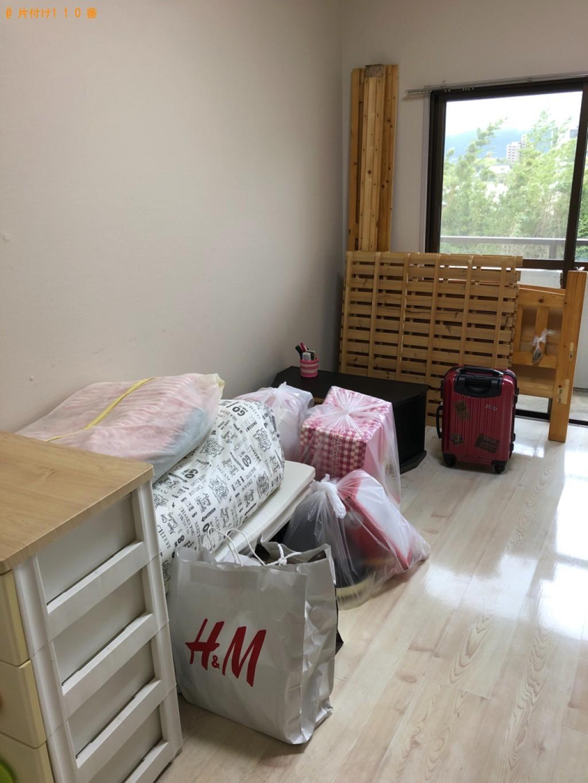 【那覇市】シングルベッド、収納ケース、スーツケース等の回収・処分